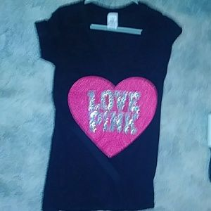 Pink vs tee RARE limited edition xs BLING